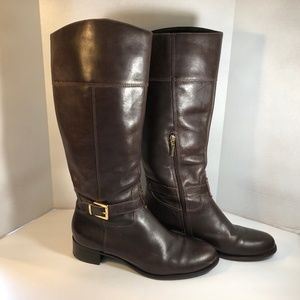 Banana Republic Leather Riding Boots Brown Sz 11M